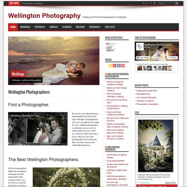 Client web development, Wellington news website.