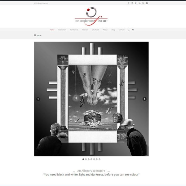 Client web development, ecommerce art website.