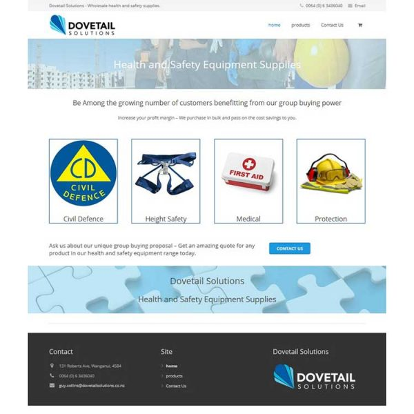 Client web development, health and safety website.